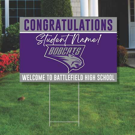Battlefield High Welcome to - Yard Signs