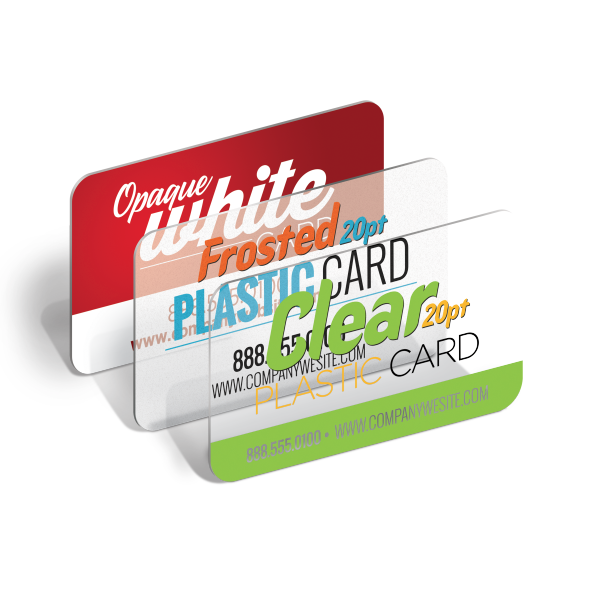 Business Cards - Plastic - Clear or Frosted