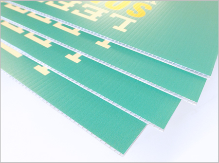 Image of coroplast corrugated plastic signs printed by McConnell Design & Print