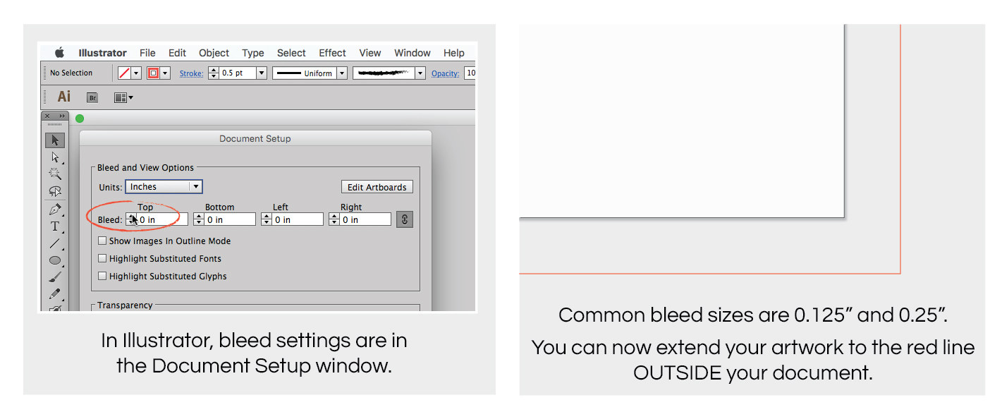 how to create a bleed in Illustrator