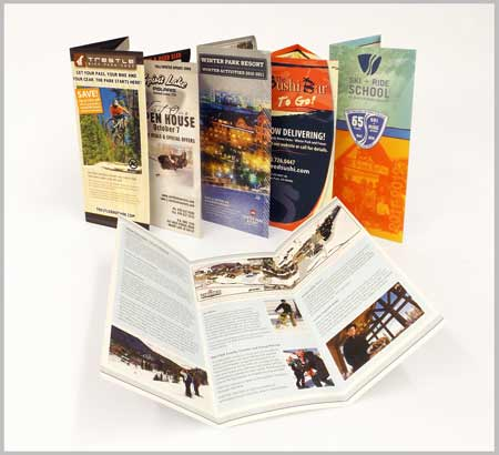 Image of trifold brochures printed by McConnell Design & Print