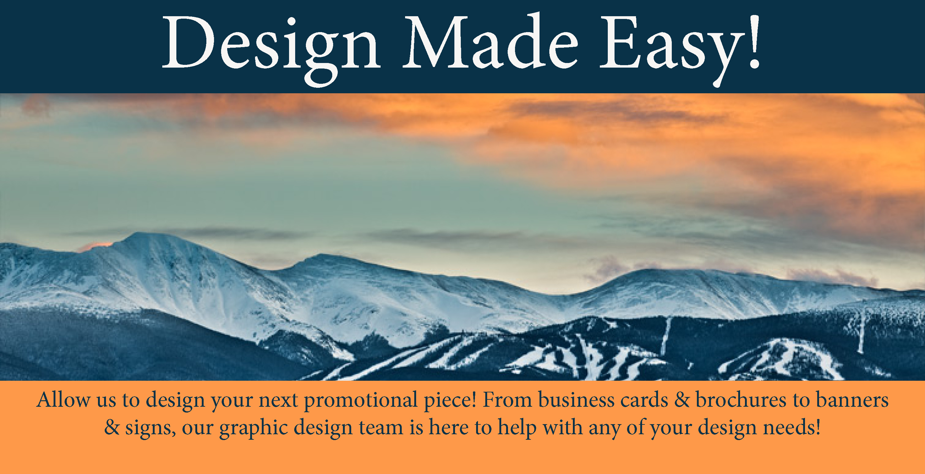 McConnell Printing, Winter Park, Colorado, Printing, Graphic Design, Marketing, Advertising, Digital Printing, Offset Printing, Signs, Banners, Business Cards, Post Cards, mailing Service
