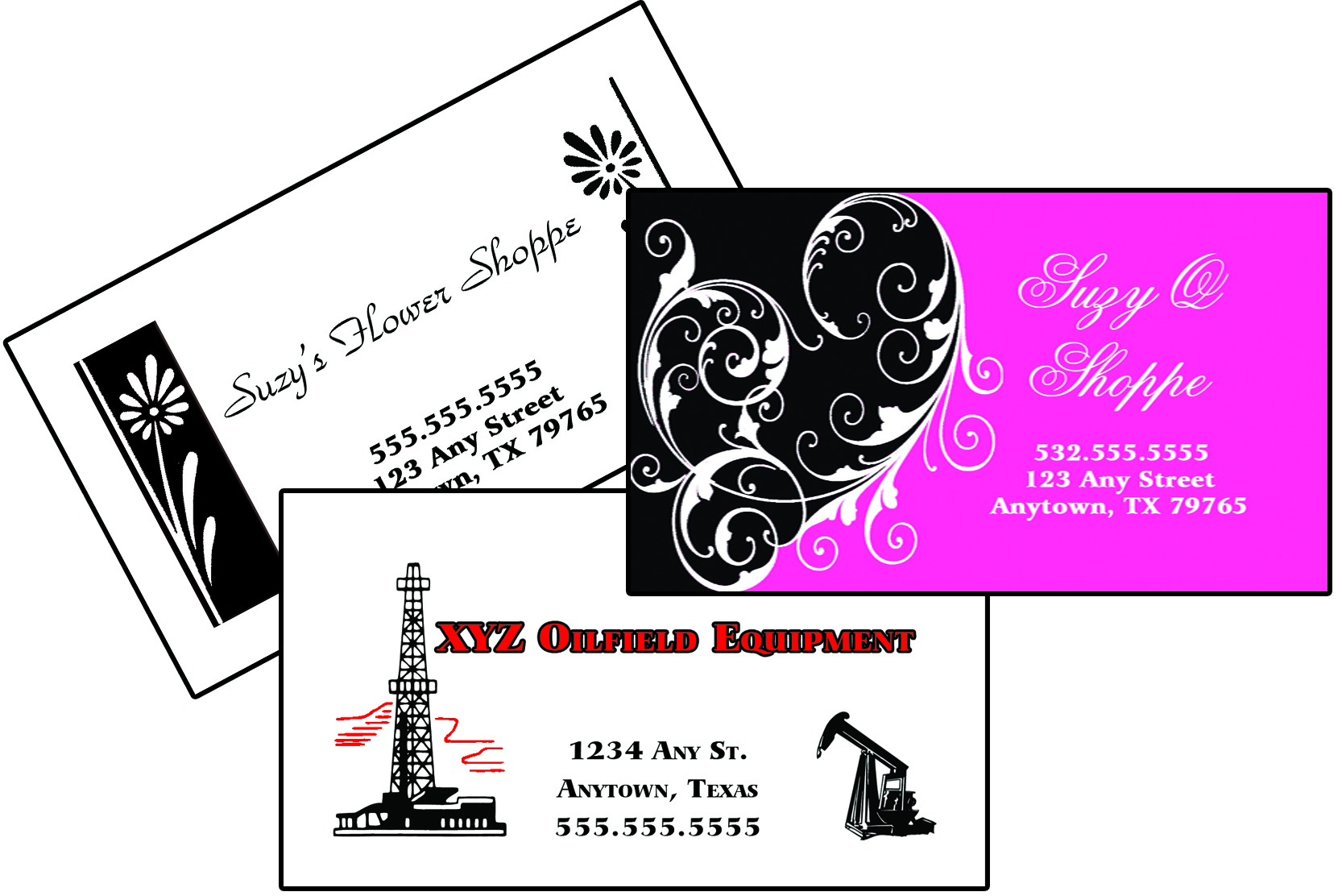 business cards odessa, tx