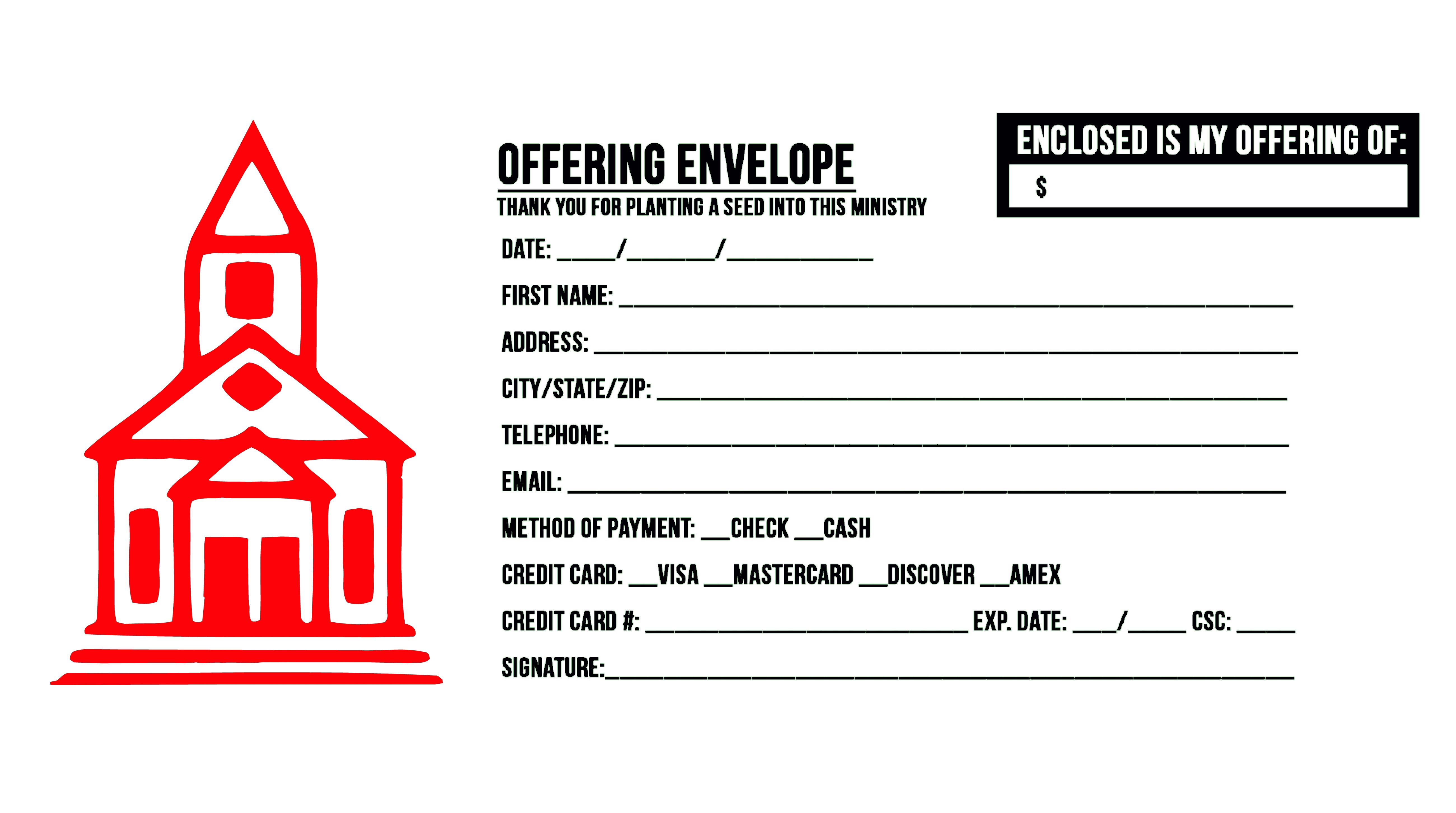 tithe envelope printing odessa tx