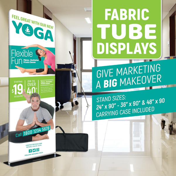 Fabric Tube Display Banners