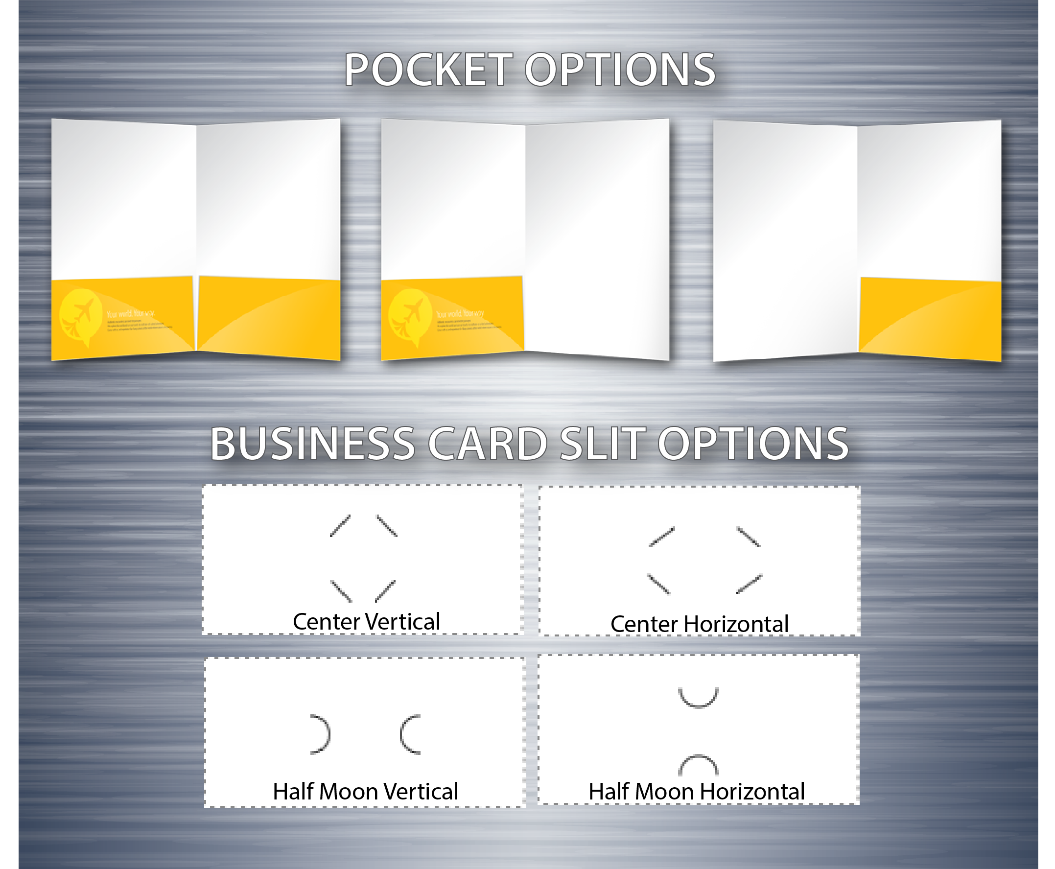 pocket folder options