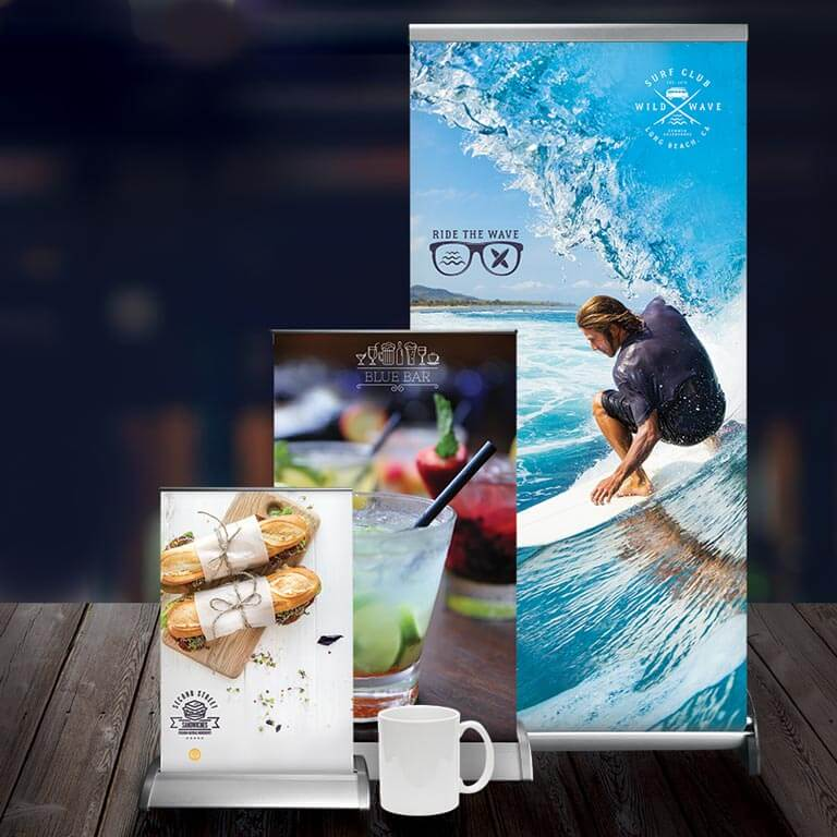 Tabletop Retractable Displays