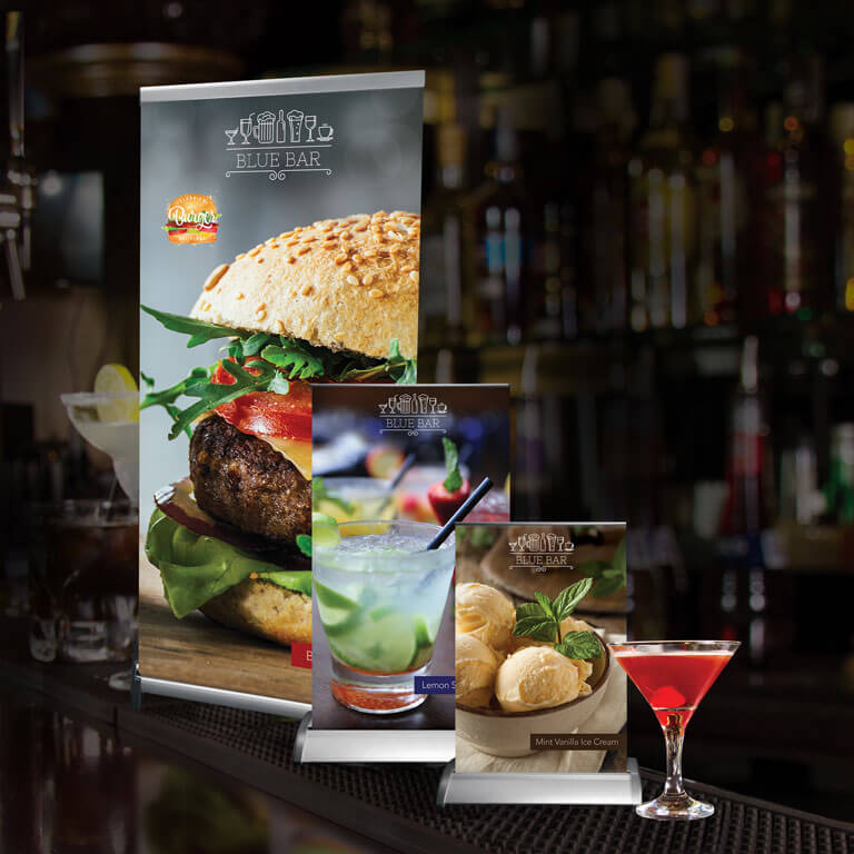 tabletop retractable display banners