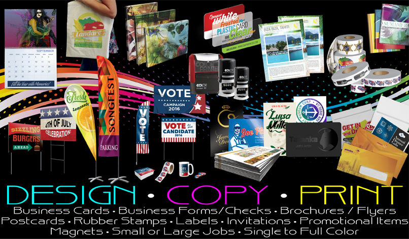 design copy print all printing items