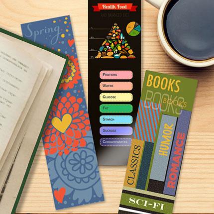 bobs printing copy shop custom bookmarks