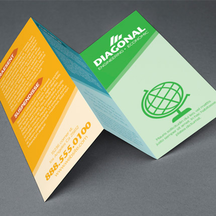 Full Color Flyers & Brochures - 100# Gloss AQ