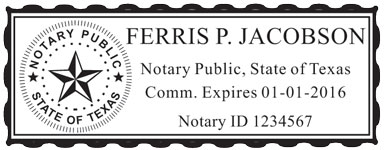 notary stamp texas landscape