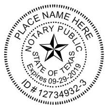 notary stamp seal round texas