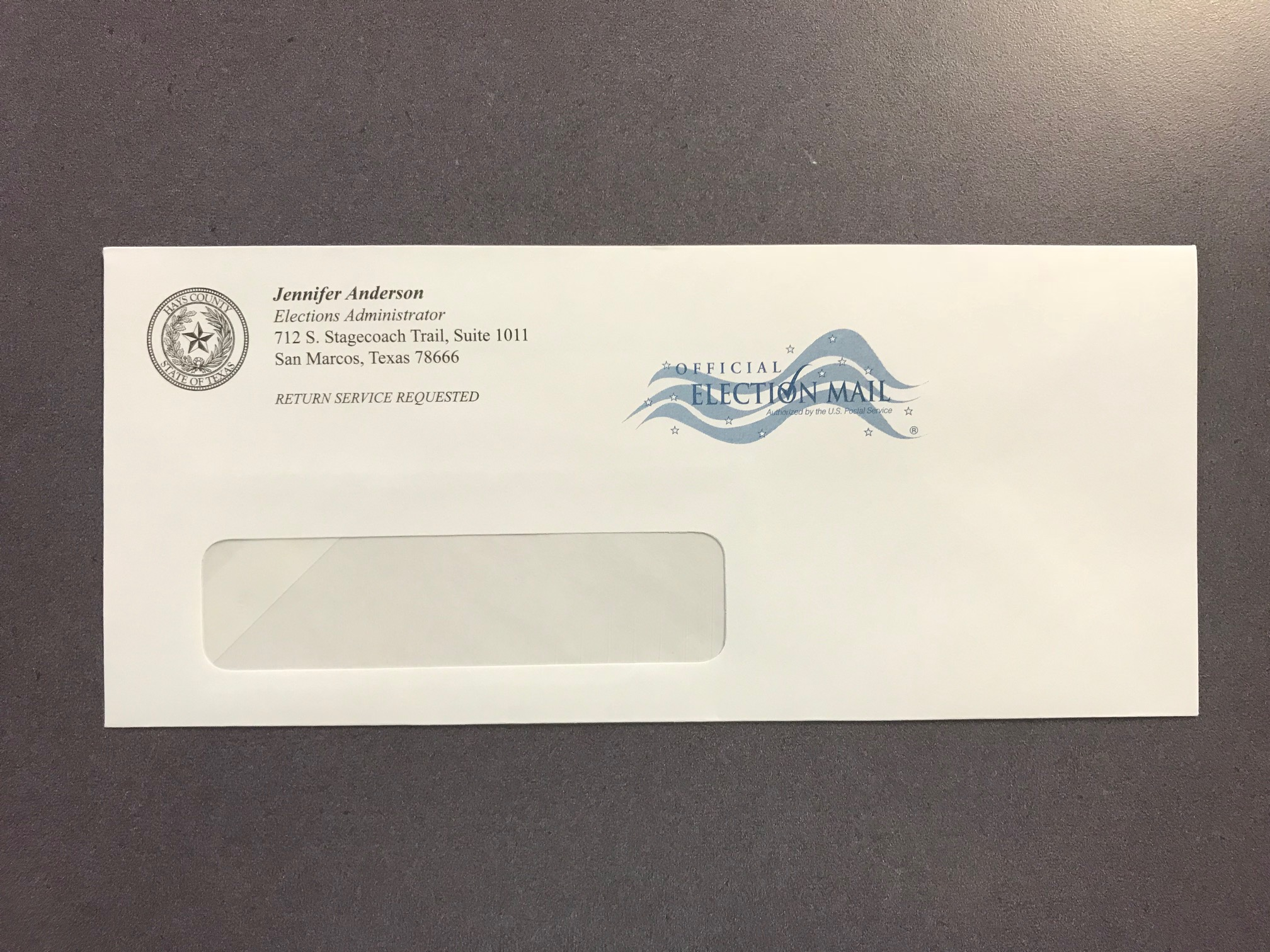 08-09 Official Election Window Envelope