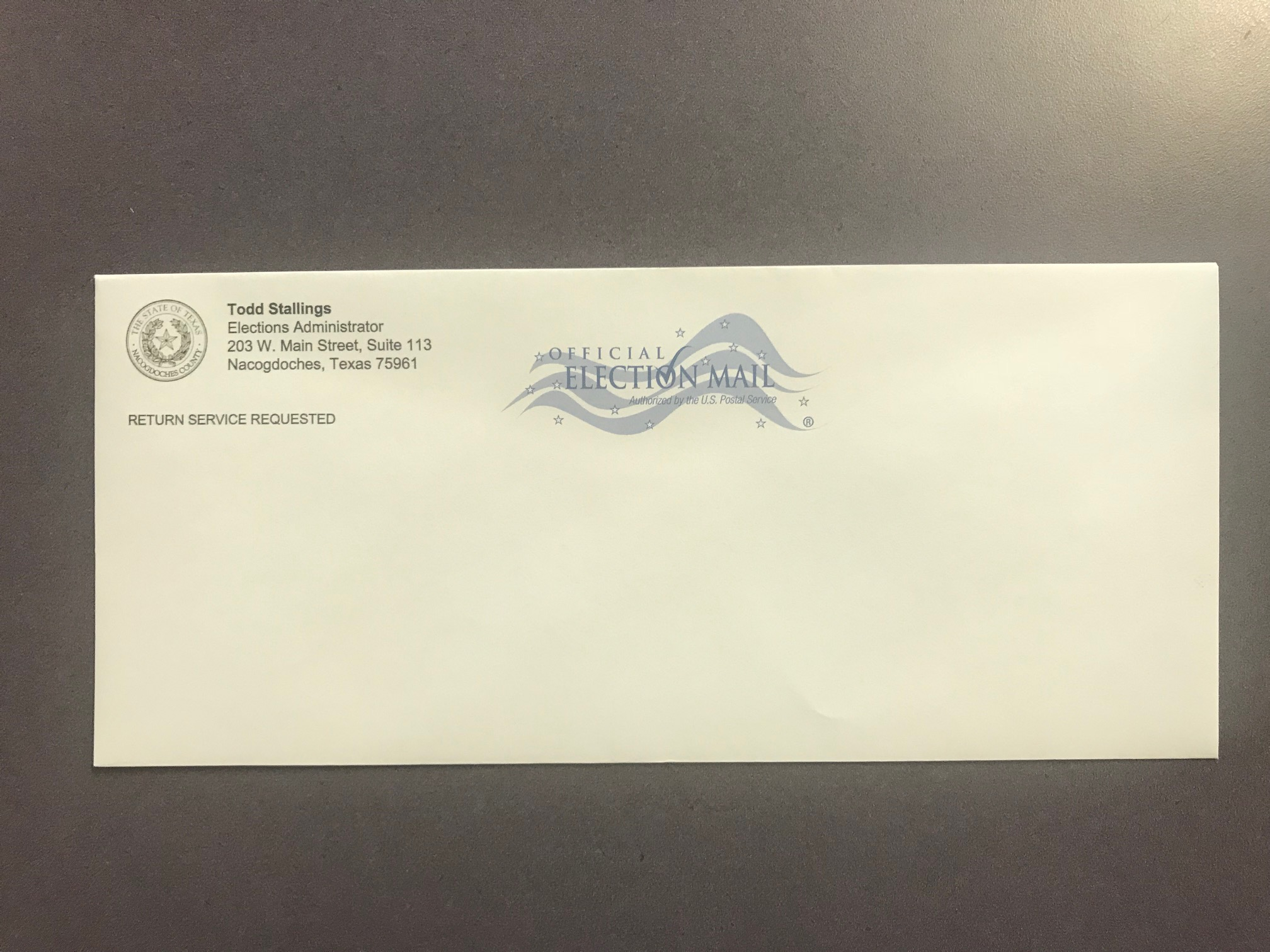08-10 Official Election Regular Envelope