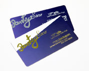 Gold and Silver foil business cards