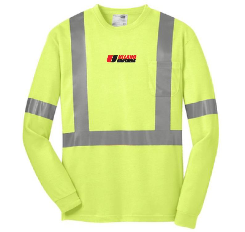 CornerStone® ANSI 107 Class 2 Long Sleeve Safety T-Shirt. # CS401LS in Yellow/Reflective