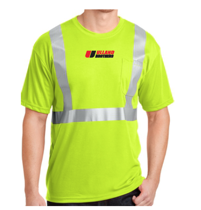 CornerStone® - ANSI 107 Class 2 Safety T-Shirt. # CS401 in Yellow/Reflective