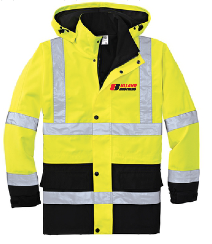CornerStone® - ANSI 107 Class 3 Waterproof Parka. # CSJ24 in Safety Yellow/ Black