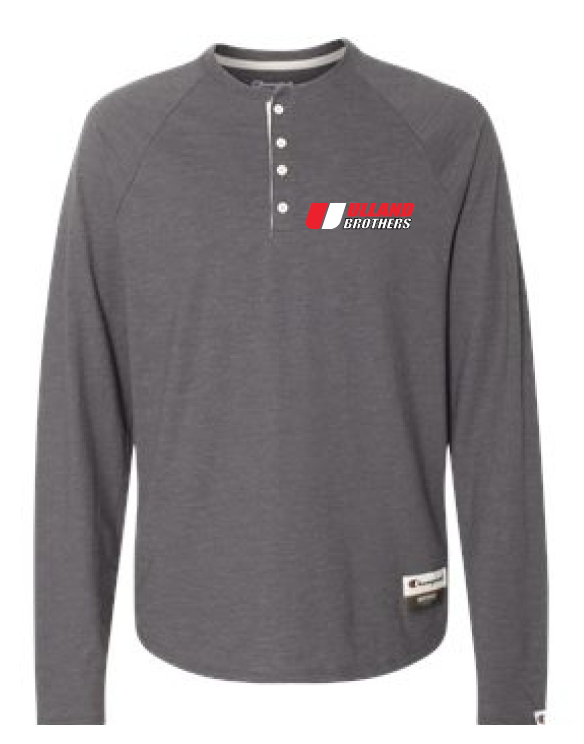 Ao380 Champion Henley CHARCOAL HEATHER S-XL