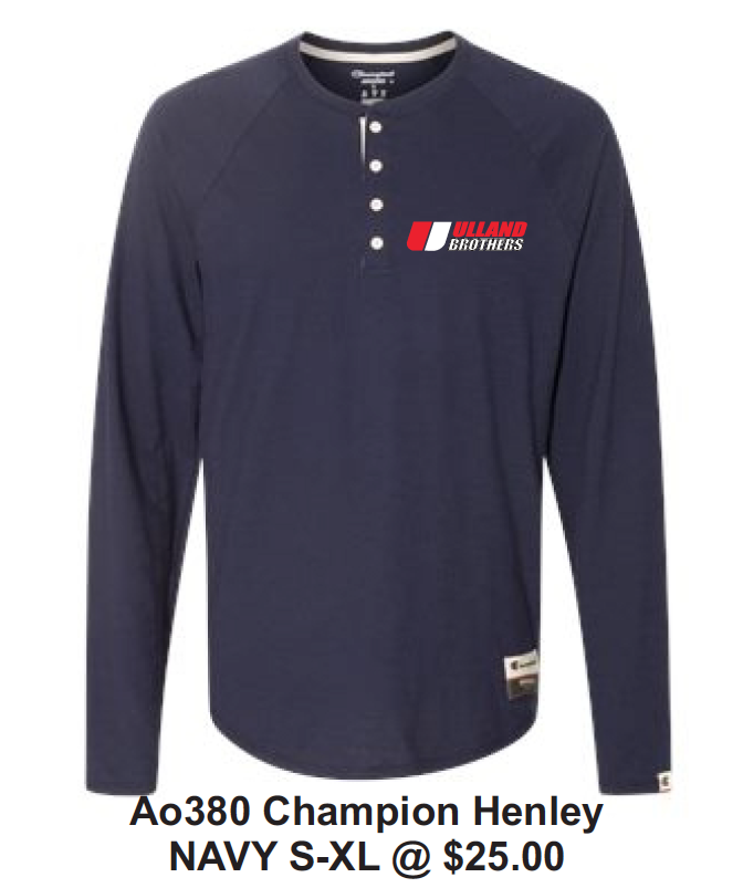 Ao380 Champion Henley NAVY S-XL