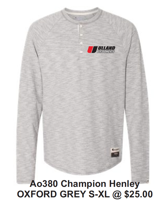 Ao380 Champion Henley OXFORD GREY S-XL
