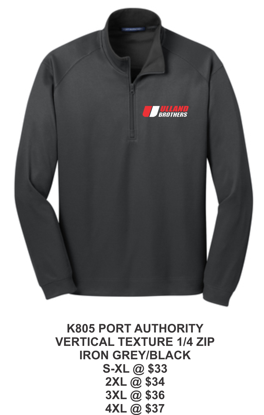 K 805 PORT AUTHORITY VERTICAL TEXTURE 1/4 ZIP BLACK