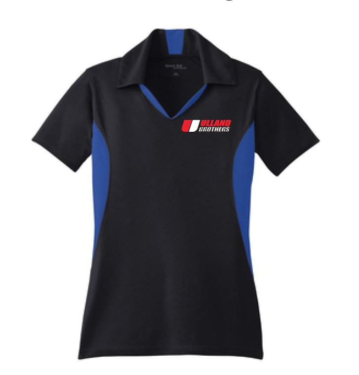 LST655 LADIES Sport-Tek Side Blocked Sport-Wick Polo BLACK/RED S-XL