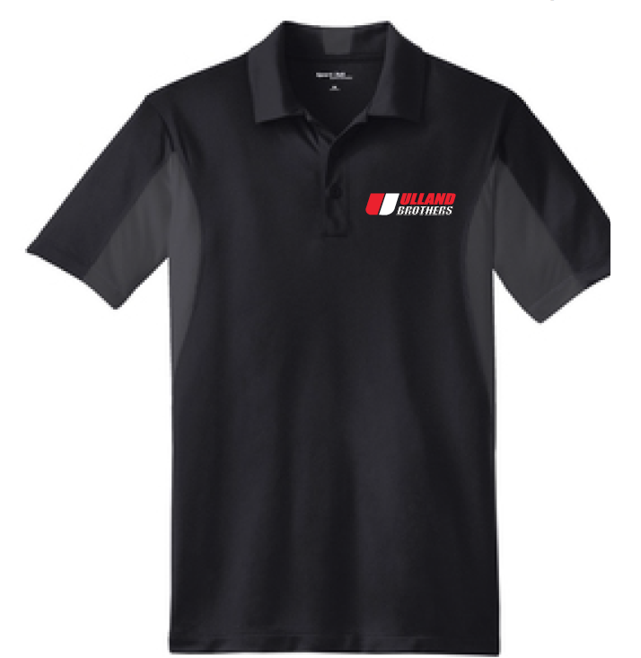 St655 Sport-Tek Side Blocked Sport-Wick Polo BLACK/IRON GREY S-XL