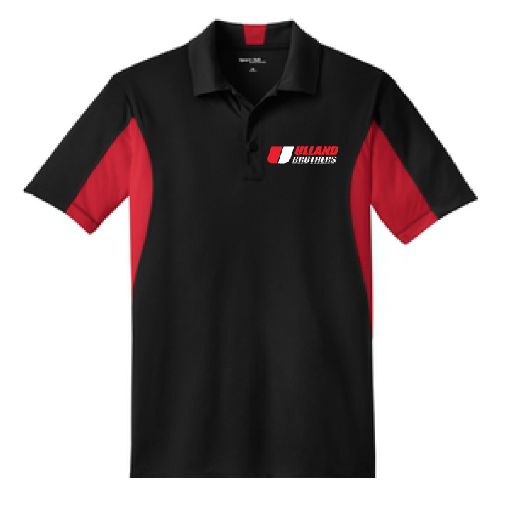ST655 Sport-Tek Side Blocked Sport-Wick Polo BLACK/RED S-XL