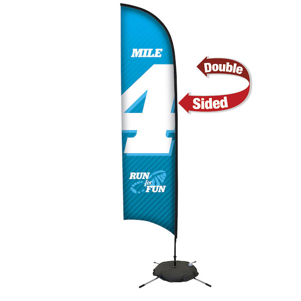 13ft Premium Razor Sail Sign Kit Double-Sided with Scissor Base