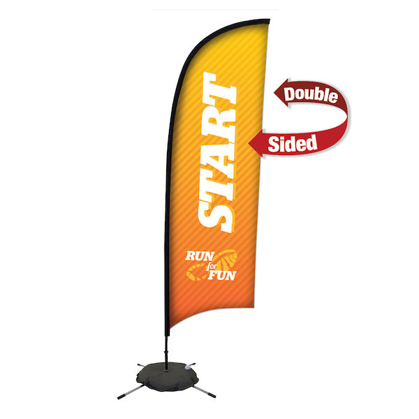 9ft Premium Razor Sail Sign Kit Double-Sided with Scissor Base