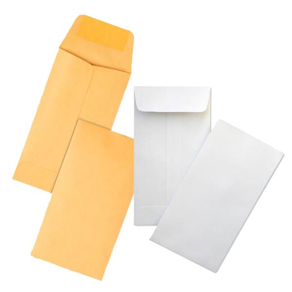 White or Kraft Envelopes Coin Envelopes