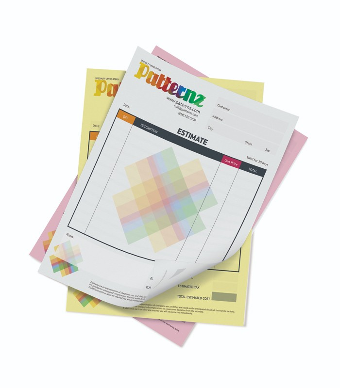 Color - 8.5x11 NCR Forms