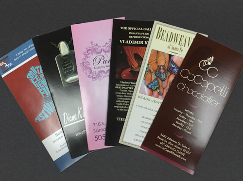 Offset printed trifold brochures