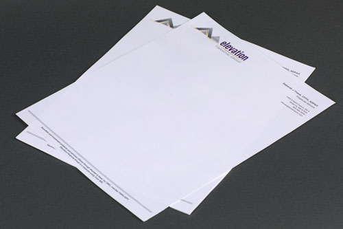 Digitally Printed Letterhead