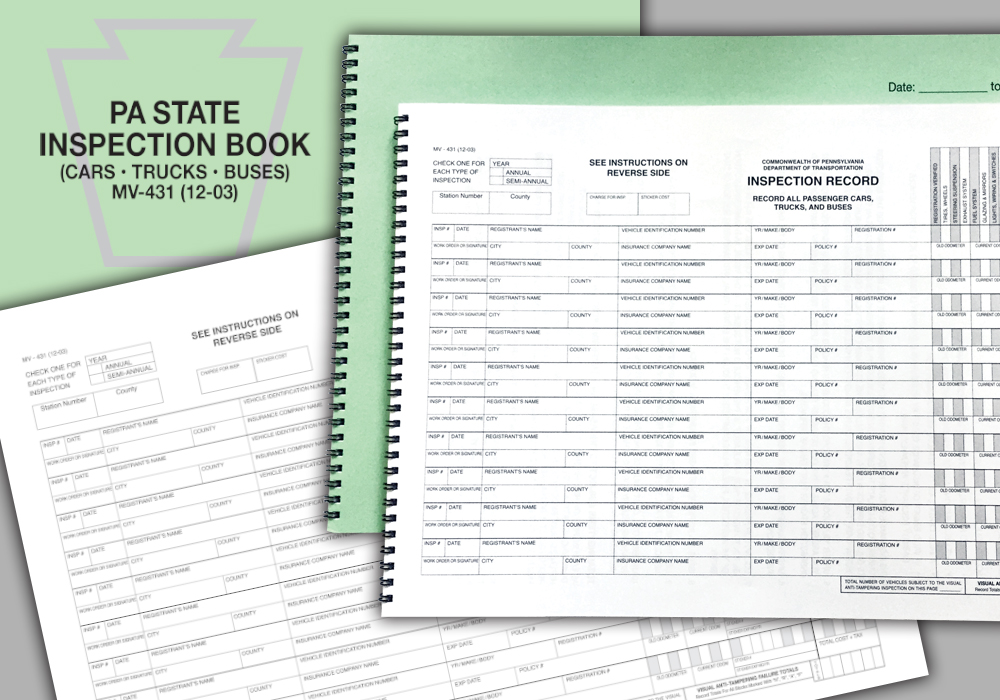 MV 431 Inspection Book - Coil Bound