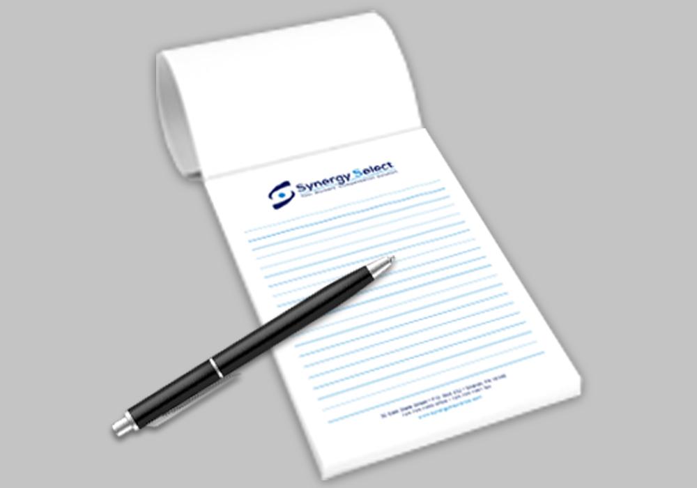 Notepads - 40 sheets  per pad