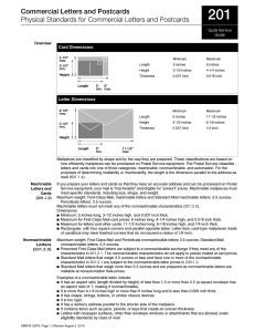 Letter/PC Standards