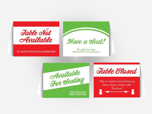 Stock Table Tents