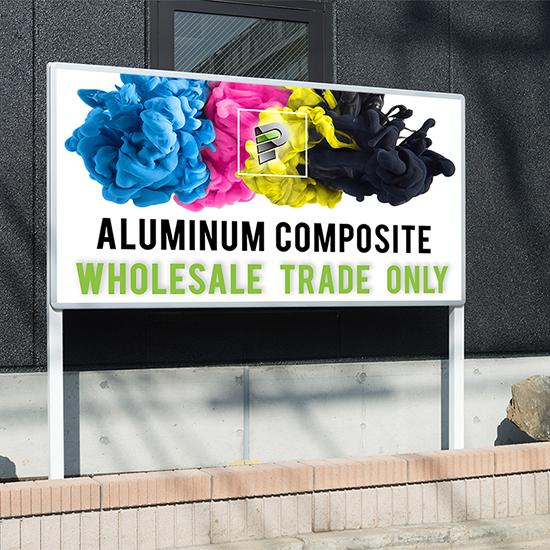 Aluminum Composite Sign Production