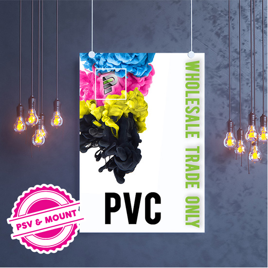 PVC PSV, Mount with Laminate