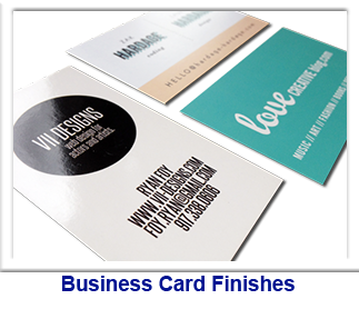 Business Card Finishes