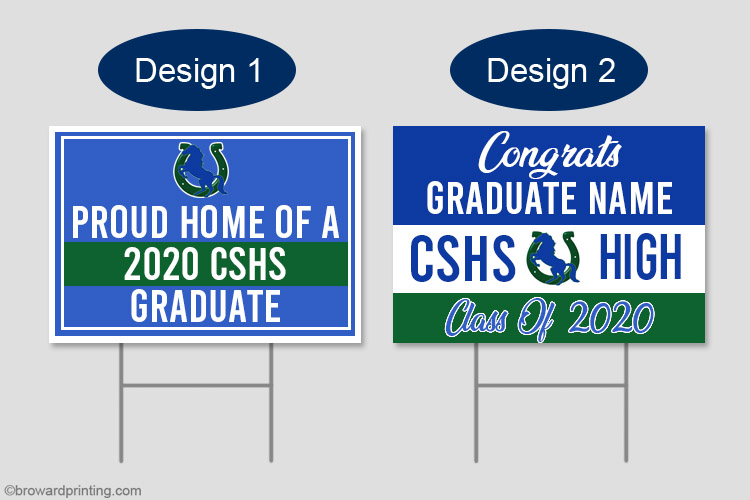 CSHS graduation yard signs