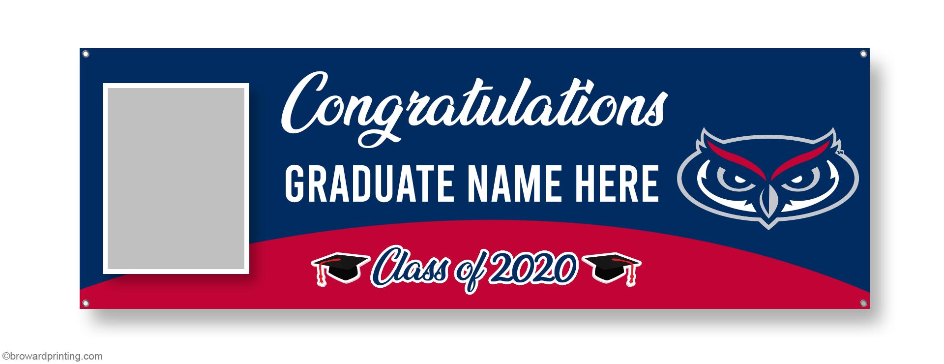 FAU Photo Graduation Banners