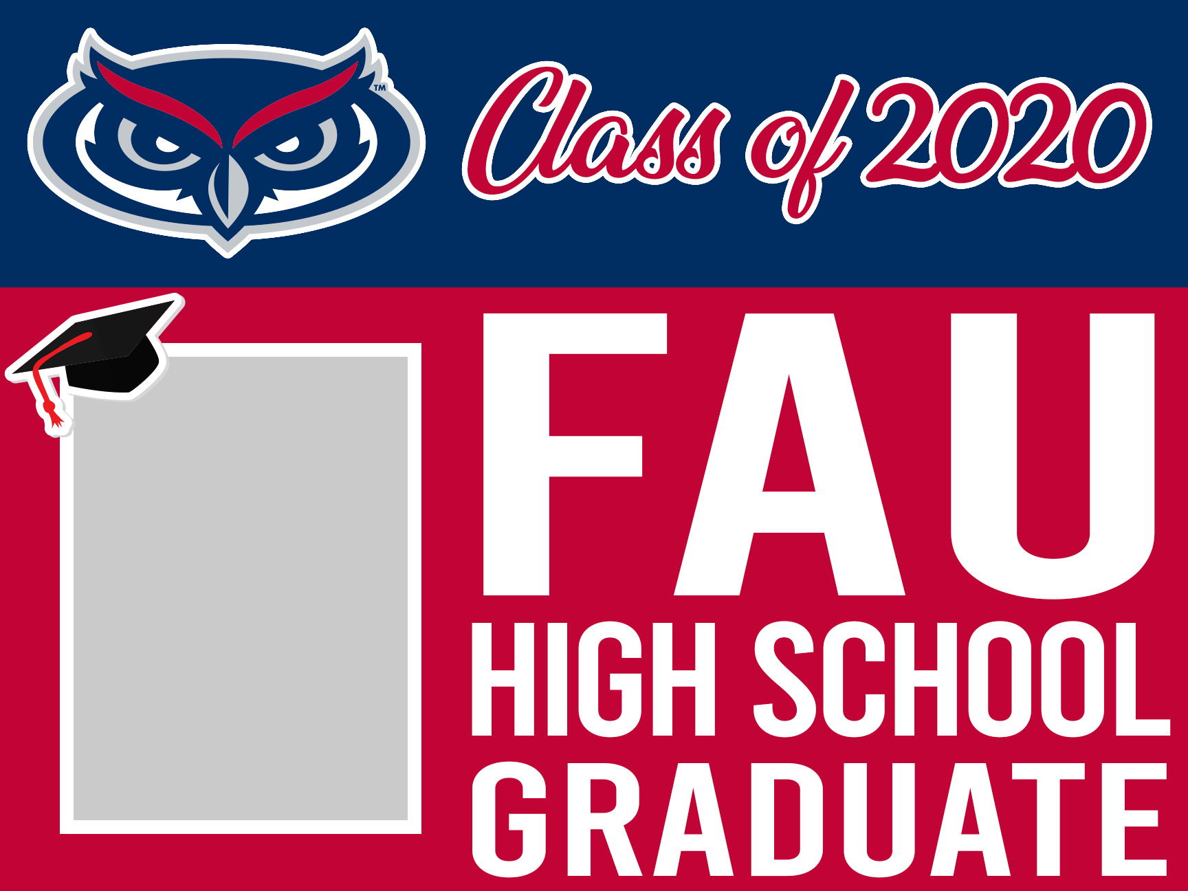 FAU graduation magnet 18x24