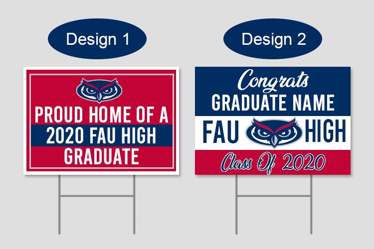 FAU graduation Yard signs