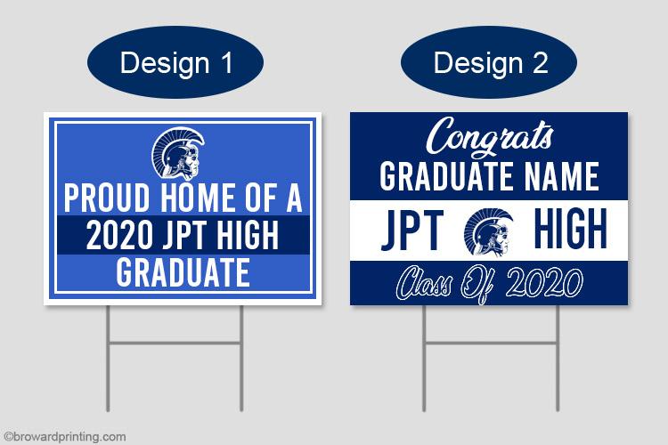 JPT graduation yard signs