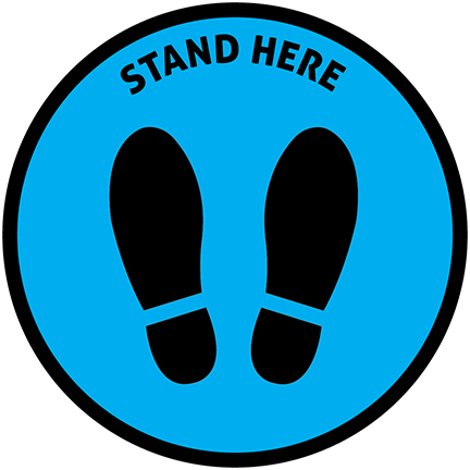 Stand Here Floor Decal