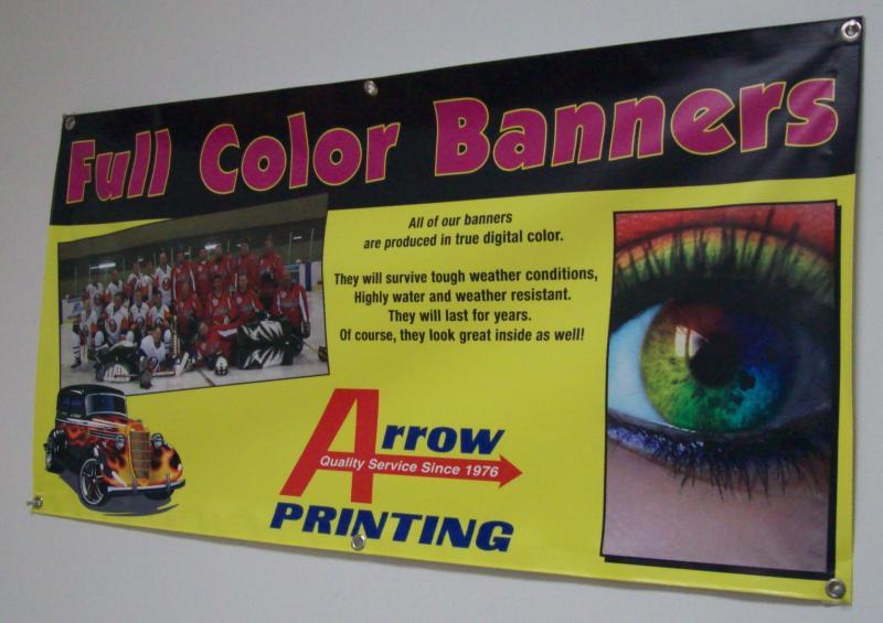 Arrow Printing Banner